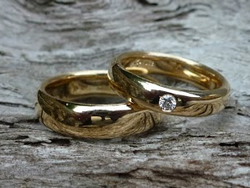 Alliances Or jaune - Diamant