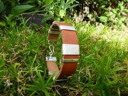 Bracelet Argent - Cuir