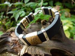 Bracelet Or jaune - Ag - Cuir