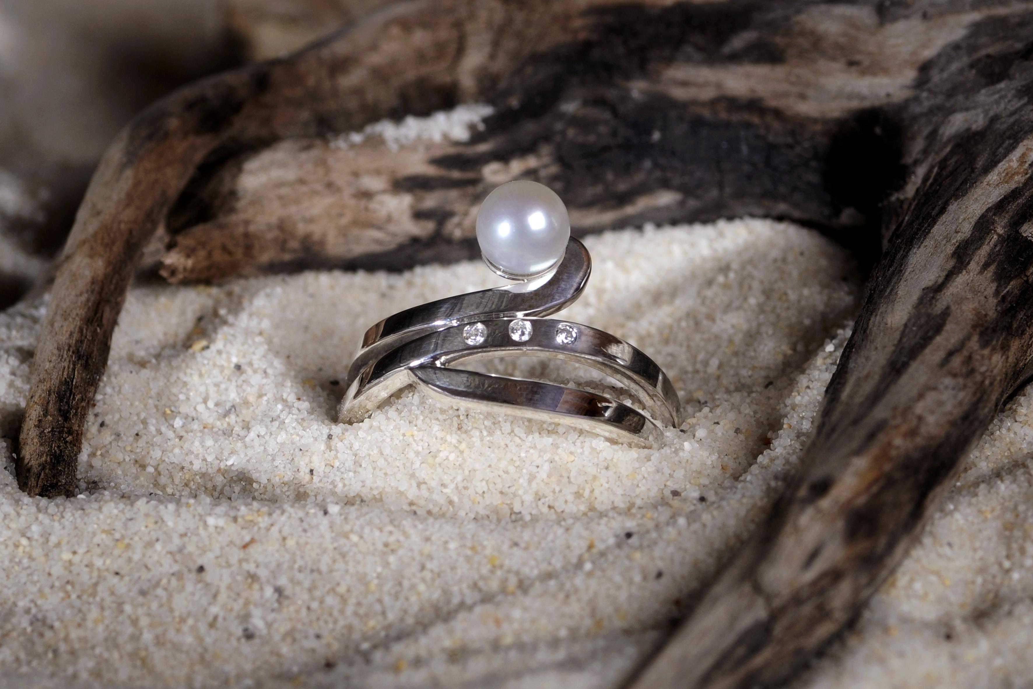 Argent - Perle - Zircons