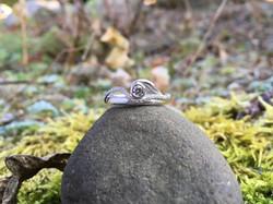 Or gris rhodié - Diamants
