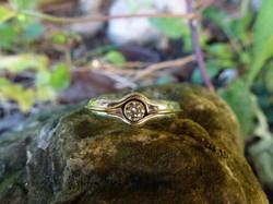 Argent - Or jaune - Diamant
