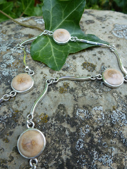 Bracelet Argent - Bois (Cerisier)