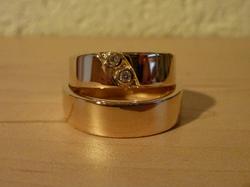 Alliances Or jaune - Diamants
