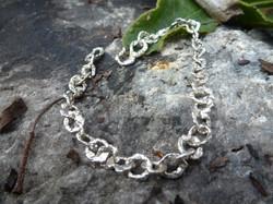 Bracelet argent brut