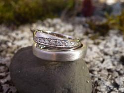 Alliance or gris - diamants