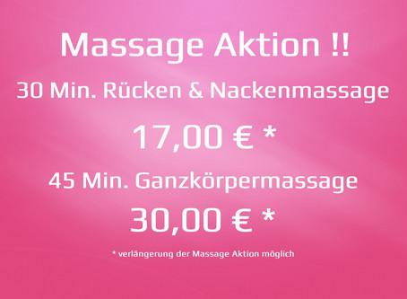 Rabatt Gutschein & Massage Aktion !!