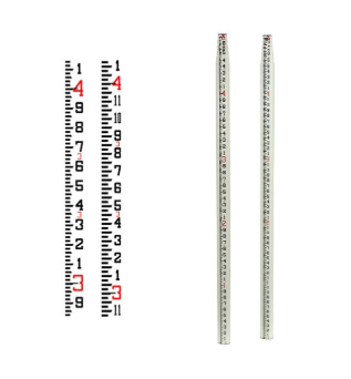 Seco SVR Oval Fiberglass Leveling Rod - Inches/Tenths (10ths) 25'