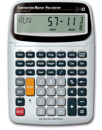 Calculated Industries Construction Master Pro Desktop Calculator