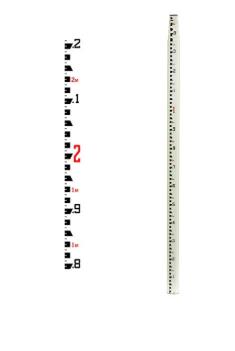 Seco SVR Oval Fiberglass Leveling Rod - Metric 7.6 M