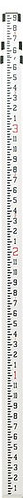 Seco Rectangular Aluminum Leveling Rod - Inches 9', 13', 16'