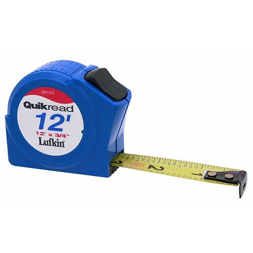 Lufkin Quik-Read Pocket Tape 12ft, 16ft, 25ft - Inches
