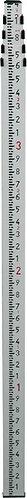 Seco Rectangular Aluminum Leveling Rod - Tenths (10ths) 9', 13', 16'