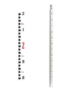 Seco Rectangular Fiberglass Leveling Rod - Metric 5m