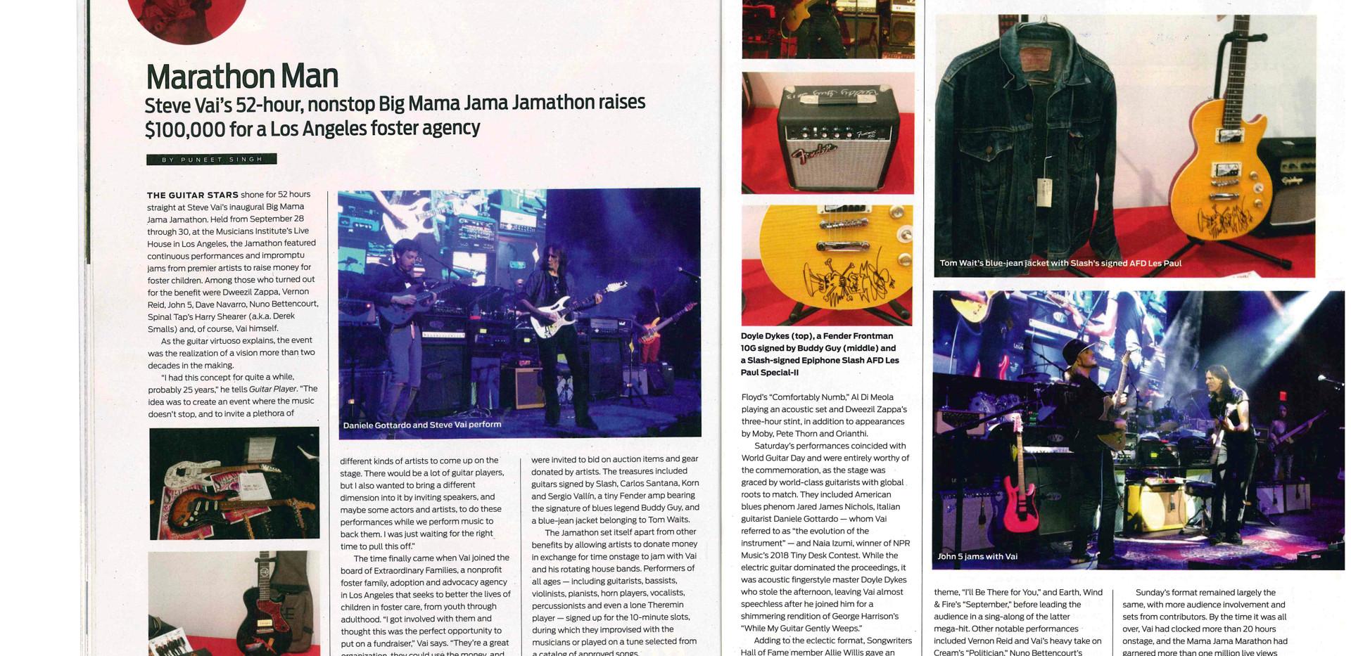 Steve Vai's Jamathon Guitar Player Magaz