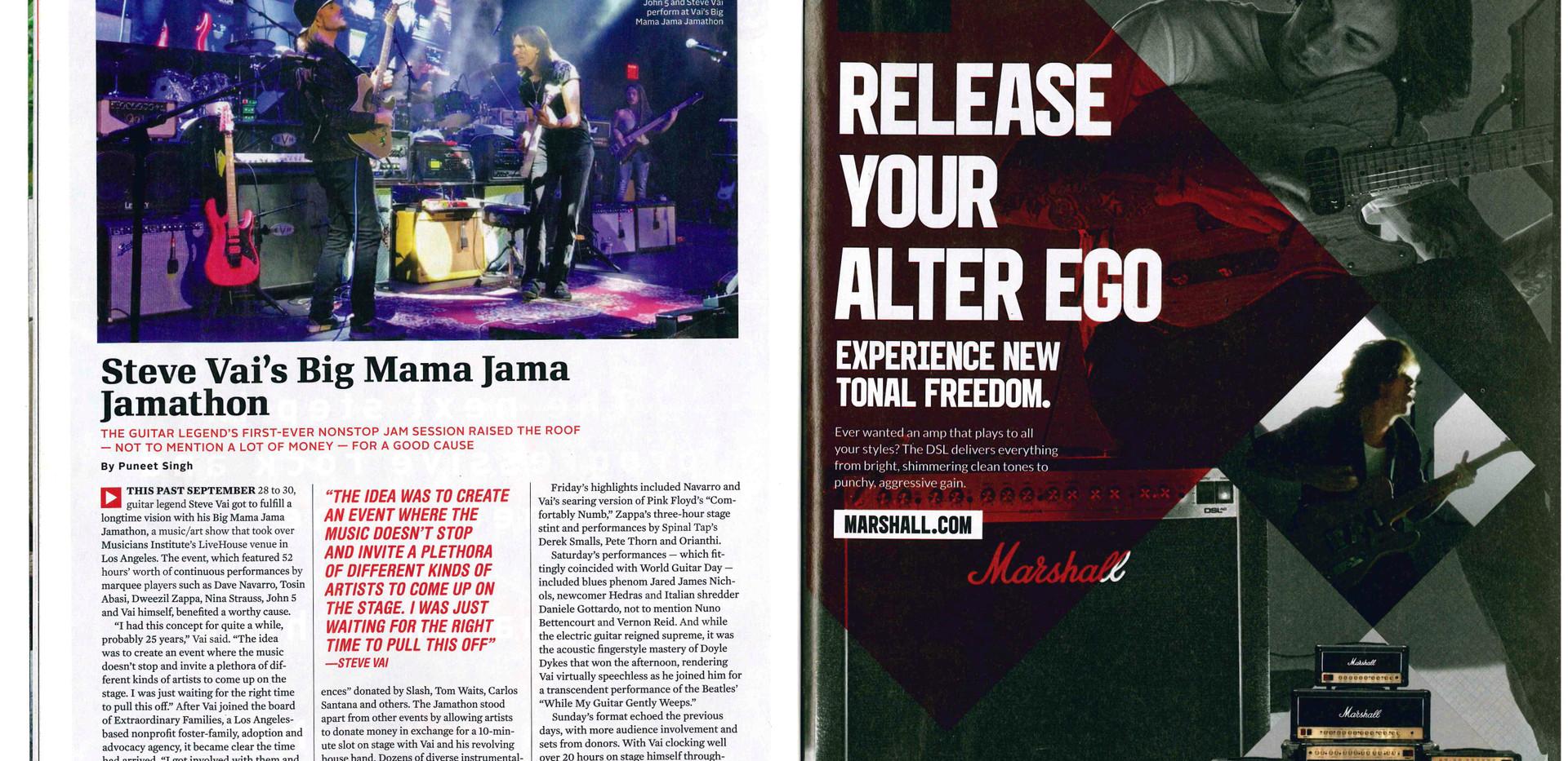 Steve Vai's Jamathon Guitar World Magazi