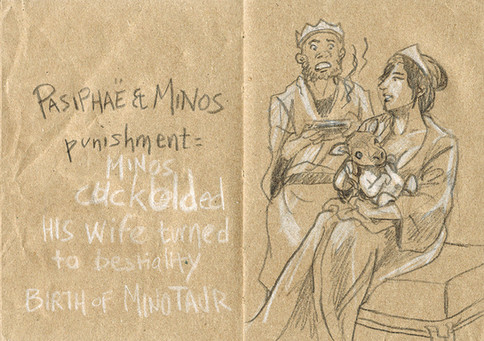 La punition de Pasiphae et Minos