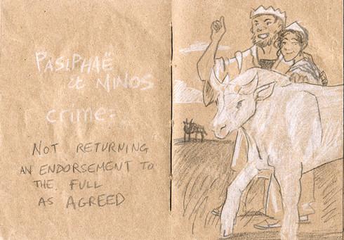 Le crime de Pasiphae et Minos