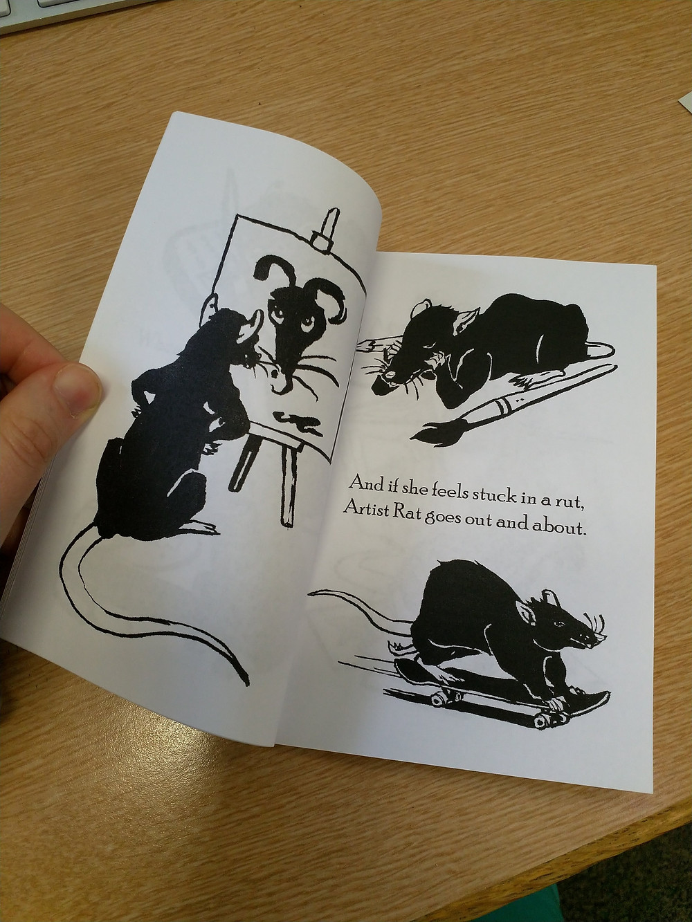 The Daily Life of an Artist Rat - A zine about maintaining a healthy work life balance for creative souls.