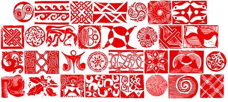 Linocut Pattern Stamps