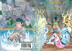 Cover design for The Amulet of Samarkand, by Jonathan Stroud