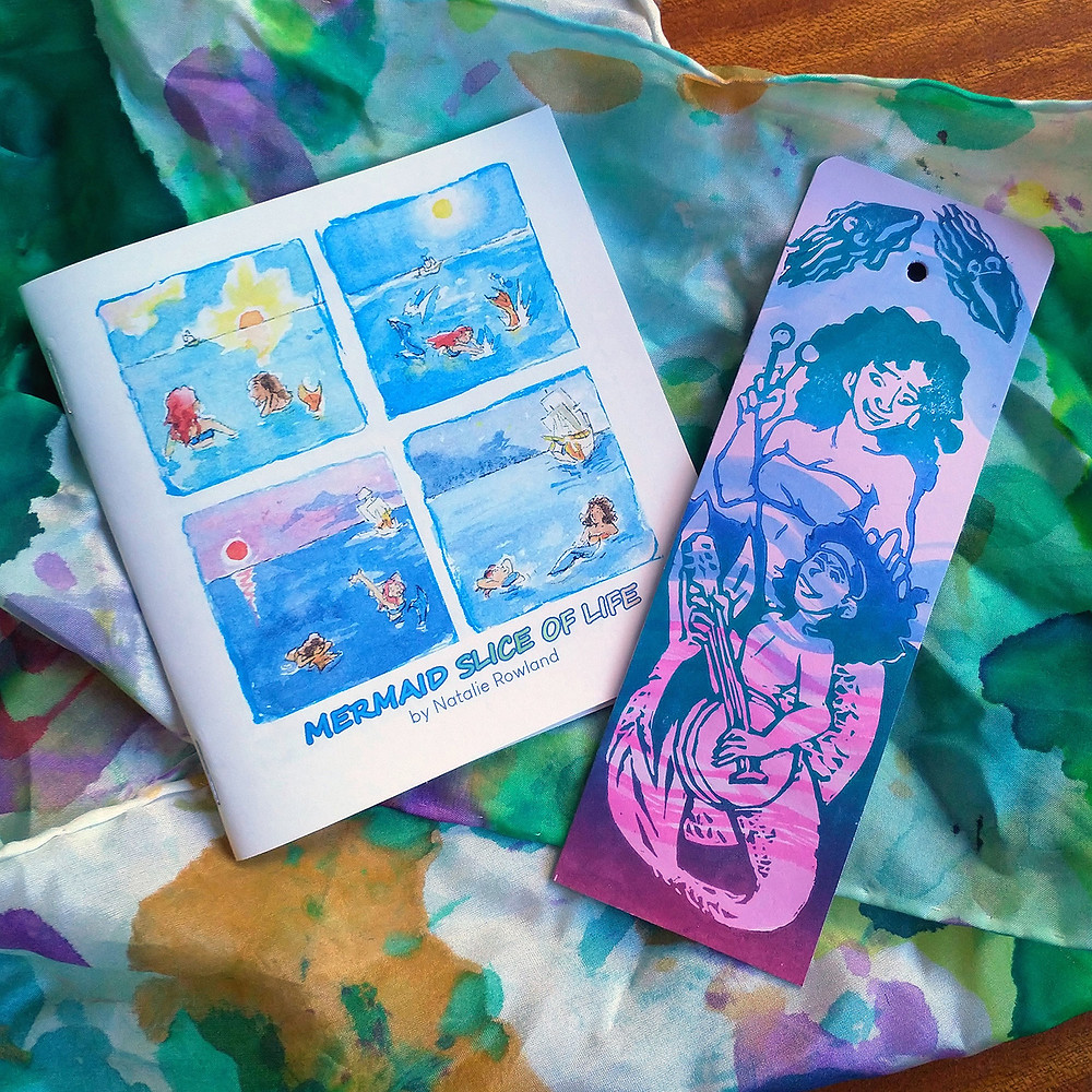 Mermay themed Zine and Bookmark