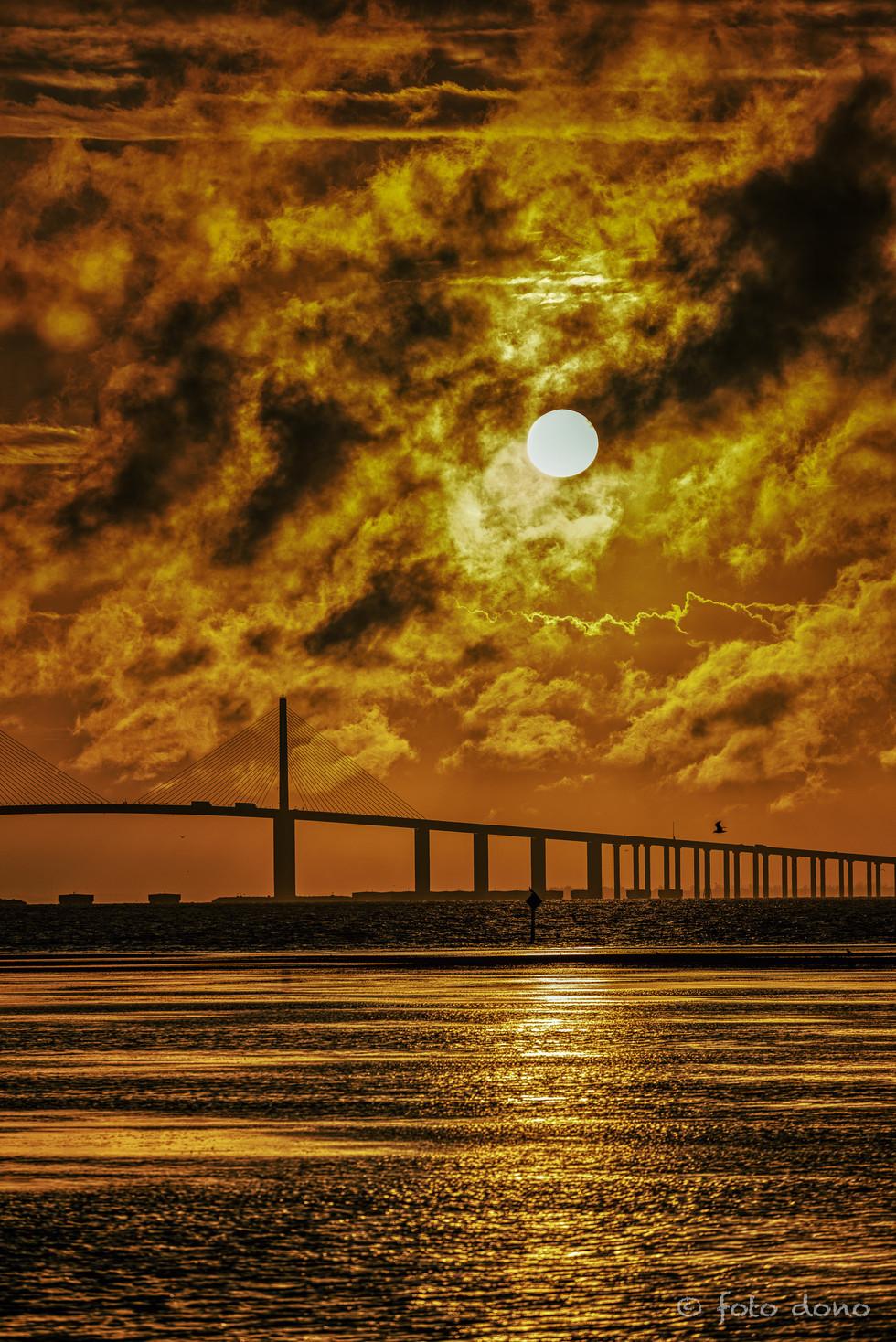 Sunrise over the Sunshine Skyway Bridge