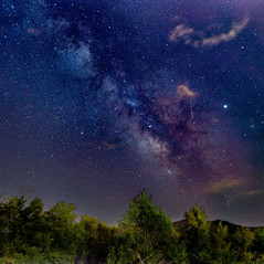 The Milky Way in the Smoky Mountains