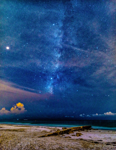 The Milky Way over Coquina Beach