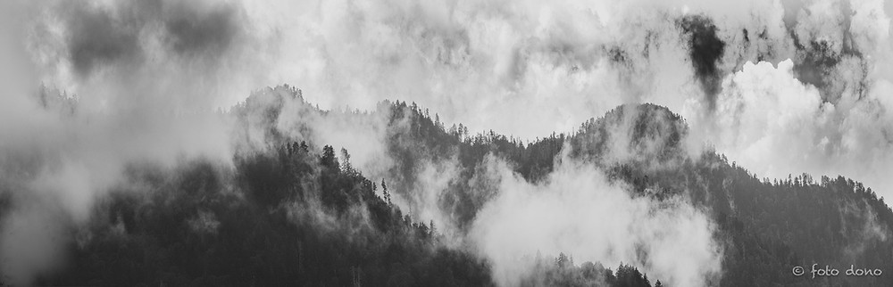 panoramic of the smoky mountains