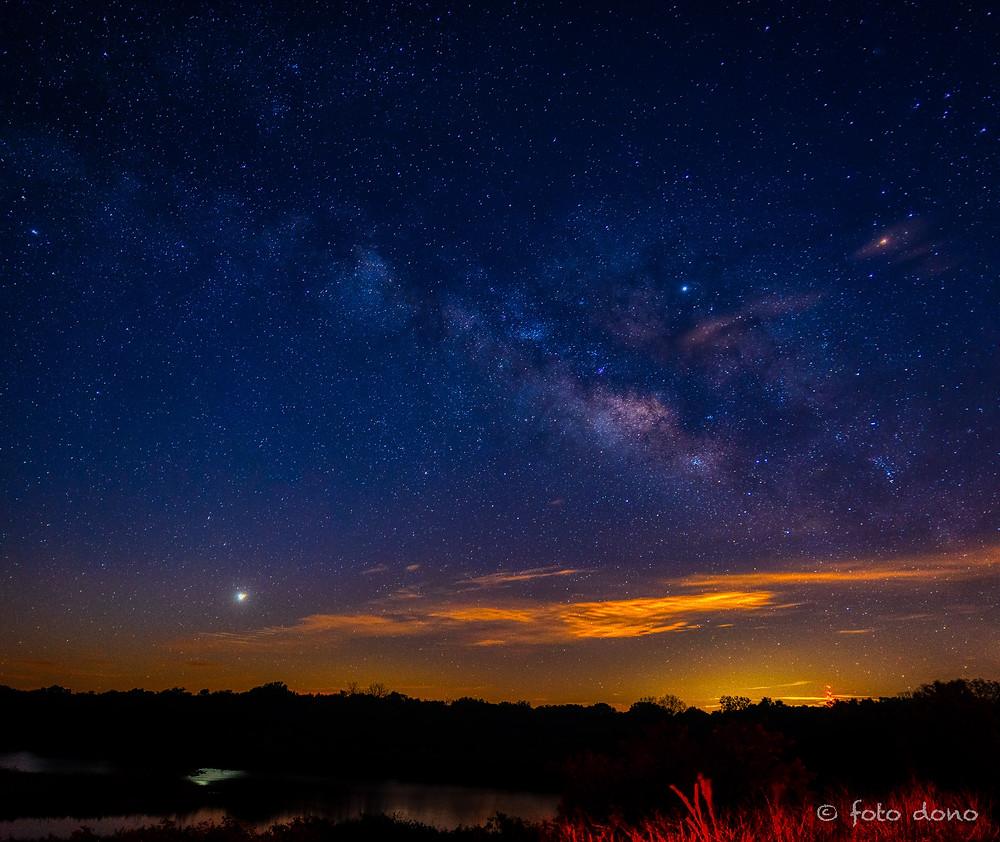 Milky Way landscape photo in Manatee County FL