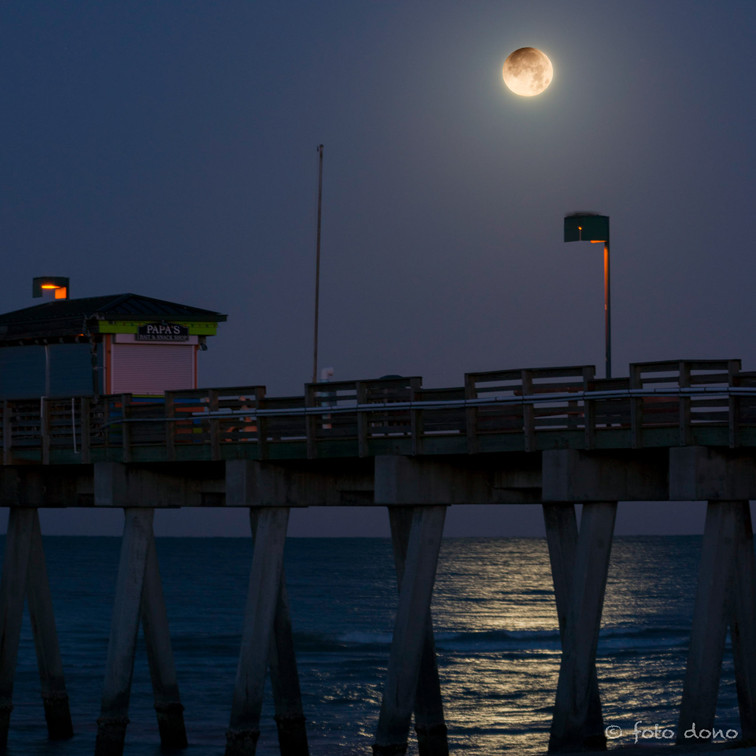 Moon over the Pier