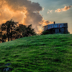 Old Barn on a Hill