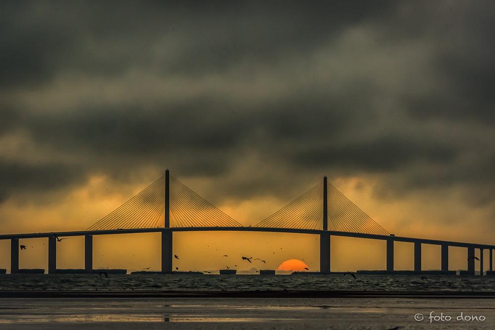 Sunsrise under The Sunshine Skyway Bridge