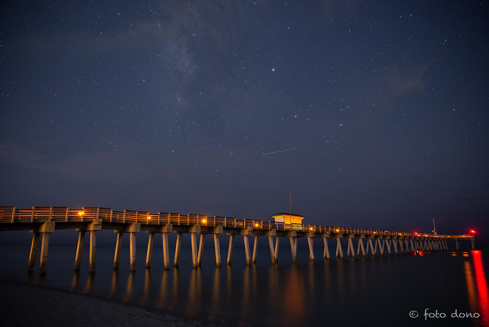 Venice Fishing Pier with the Mily Way