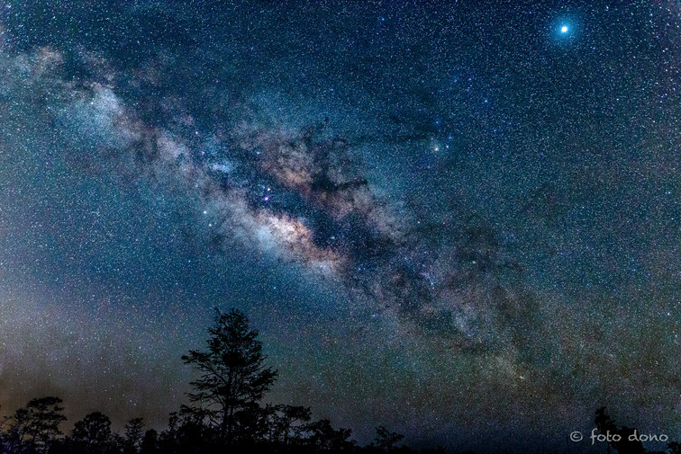 The Milky Way with Jupiter