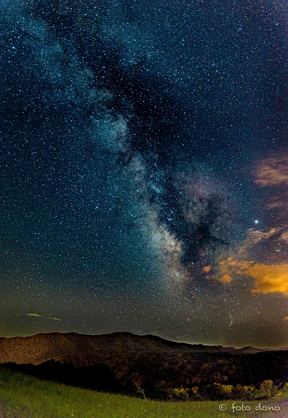 Milky Way above Rocky Top Mountain