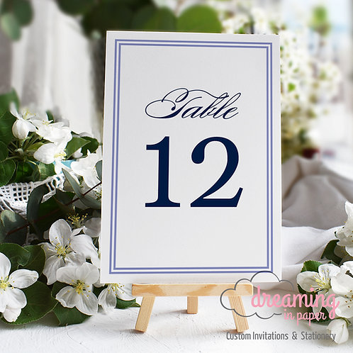 Classic Double Border Table Numbers