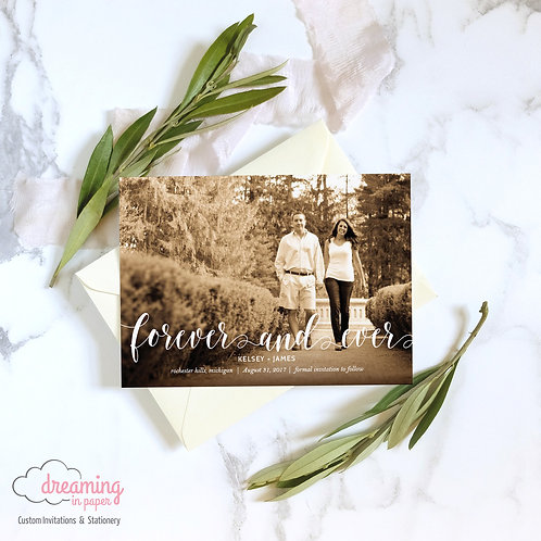 Forever and Ever Photo Save the Dates