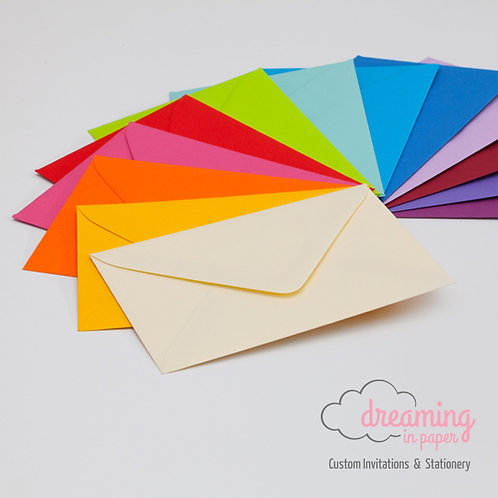 Upgrade to Color or Shimmering Outer Envelopes