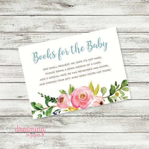 Books for Baby Card - Coordinates with Mama & Baby Shower Invitations