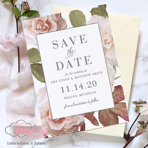 Classic Antique Roses Save the Dates