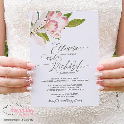 Adorable Floral Wedding Invitation
