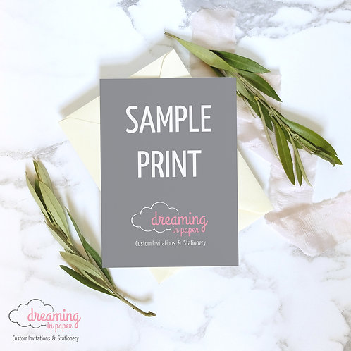 Single Sample Print