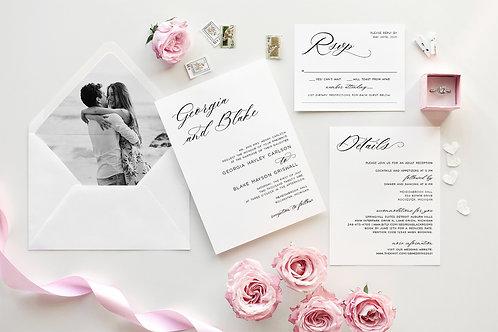 Modern Script Wedding Invitations 360