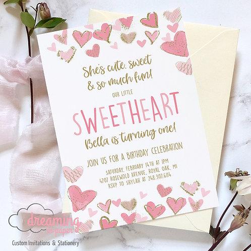 Sweetheart Birthday Invitation