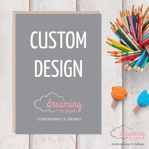 Custom Designed Baby Shower Invite or Baby Announcement