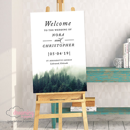 Green Forest Wedding Welcome Sign-189