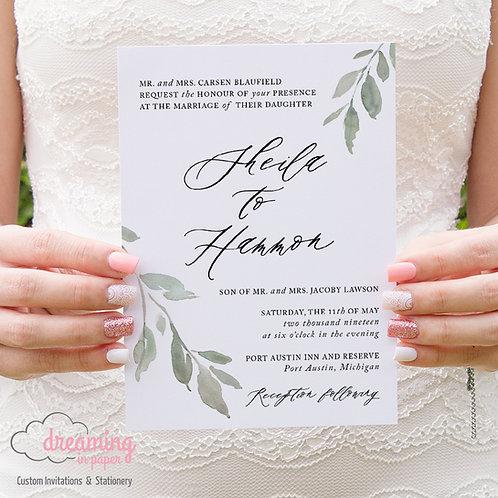 Classic Greenery Wedding Invitations 201
