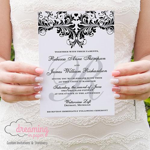 Deliciously Damask Wedding Invitation Set